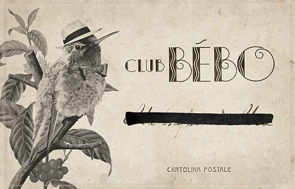 Club Bébo Bird With Hat Postcard
