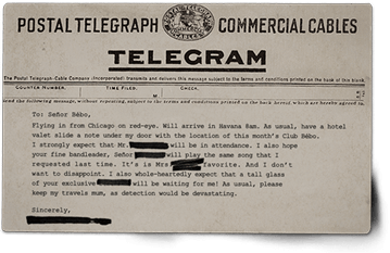 Telegram for Señor Bébo